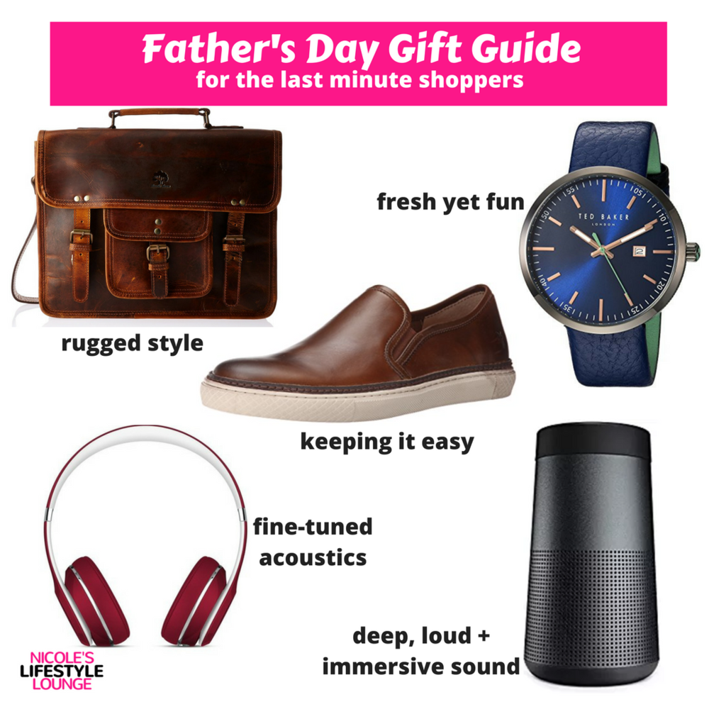 Father's Day gift guide for the last minute shoppers. #fathersday #giftguide