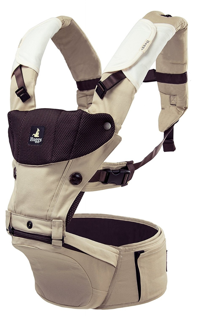 Available in khaki and grey, this carrier is an innovative baby carrier built for versatility.