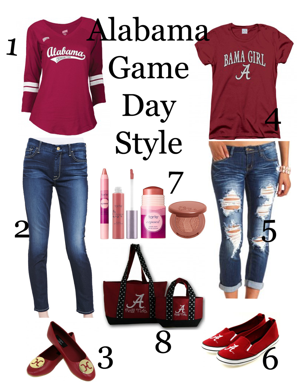 Alabama Game Day Style Ensemble
