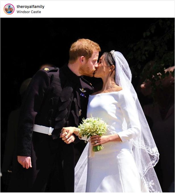 Sealed with a kiss. #DukeandDuchess #RoyalWedding