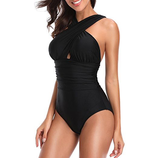 Tummy Control Front Cross One Piece
