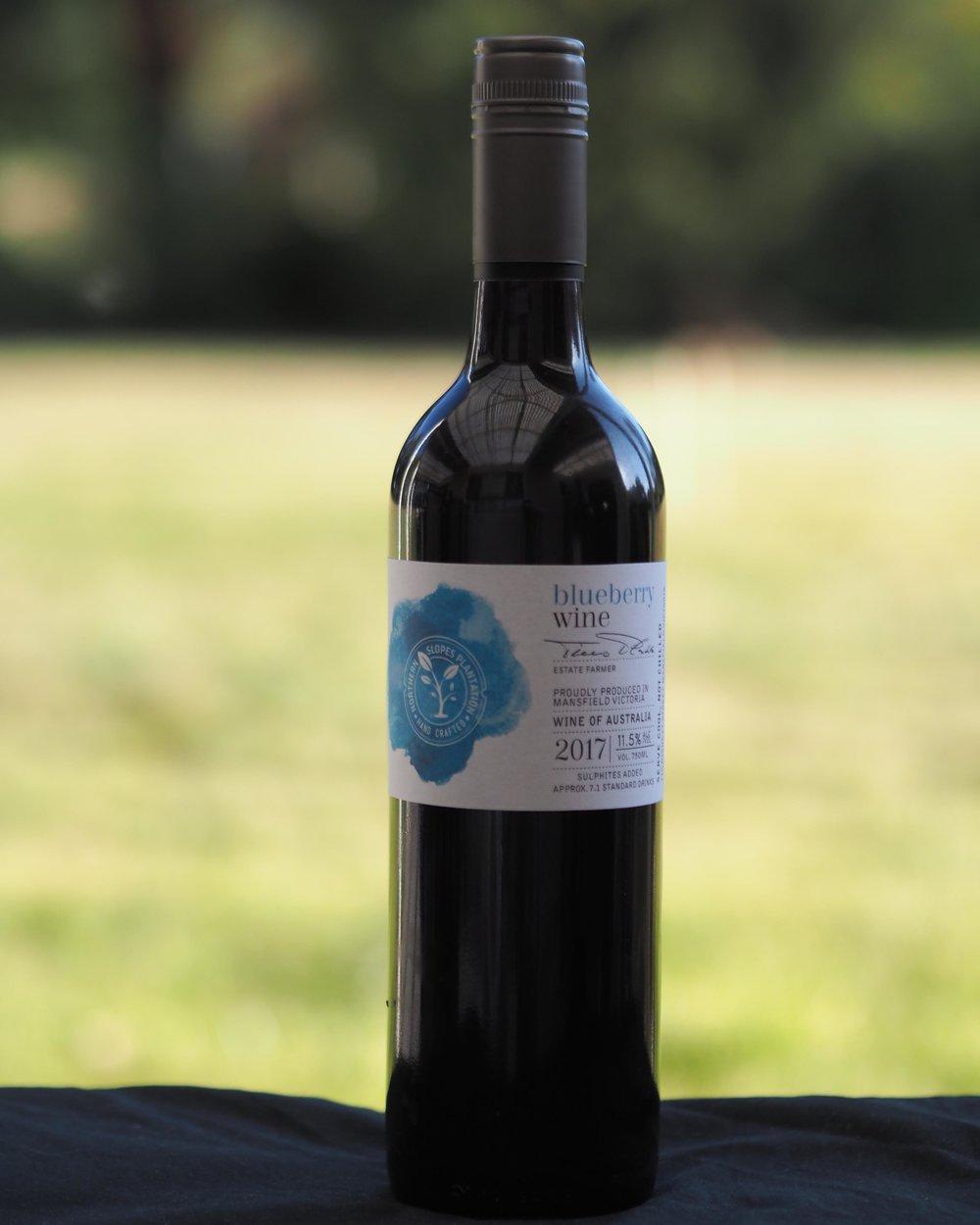 BLUEBERRY WINE - $28 per bottle$300 per dozen