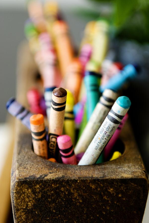 crayon centerpiece