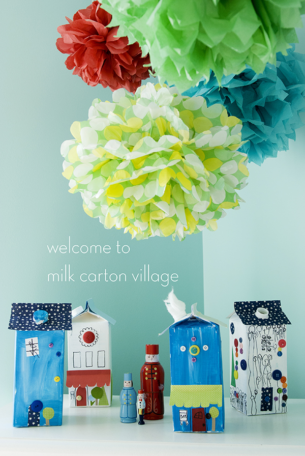 milk carton village
