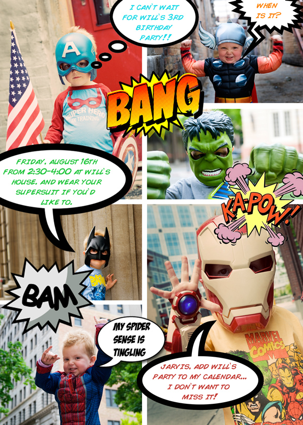 super hero party invitation