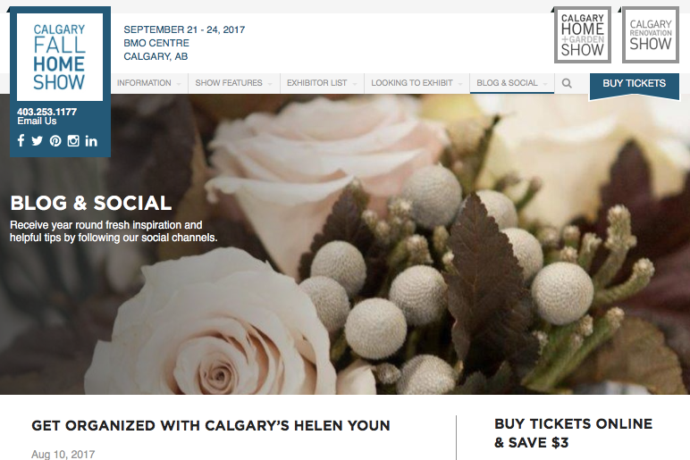 Calgary Fall Home Show 2017, Get Organized with Calgary's Helen Youn.