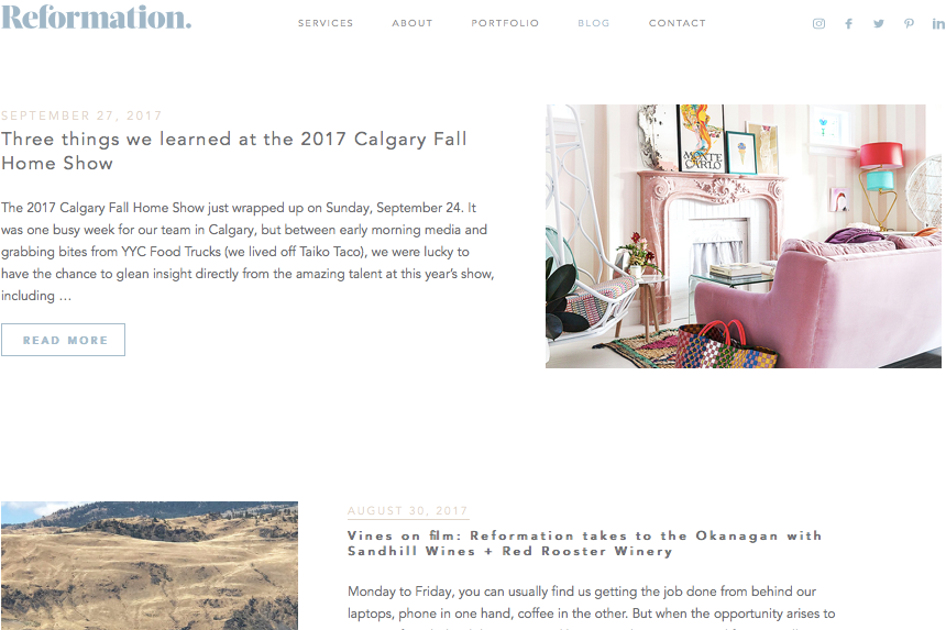 Reformation blog, Three things we learned at the 2017 Calgary Fall Home Show.