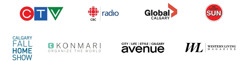 Helen Youn has been featured in CTV, CBC Radio, Global TV Calgary, Calgary Sun, Calgary Fall Home Show, KonMari Media Newsletter, Avenue Calgary, Western Living Magazine, and more...