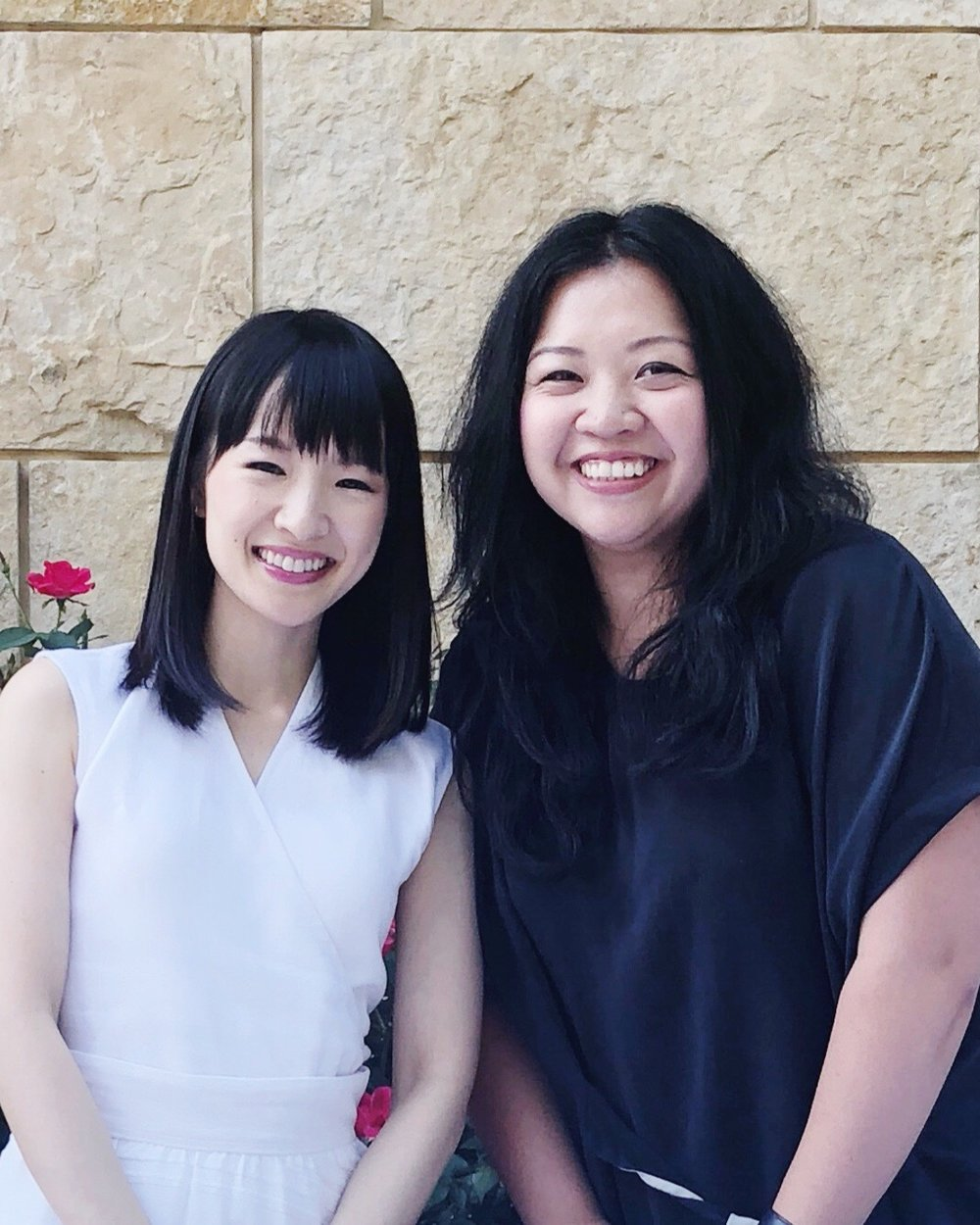 Marie Kondo (L) with Helen Youn (R), Certified KonMari Consultant