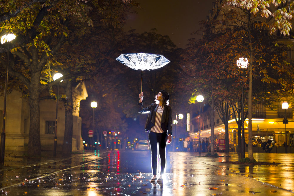 Paris rain can really do a number on an umbrella.