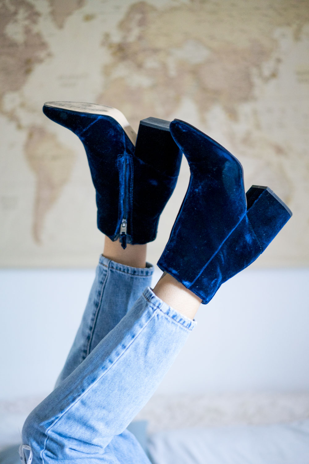 2a2a3a24b57b How to Wear Blue Velvet Booties — Amanda Lee – The Photographer