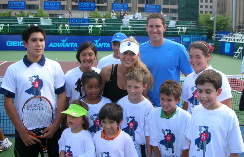 Anna Kournikova visits ASM Tennis Academy