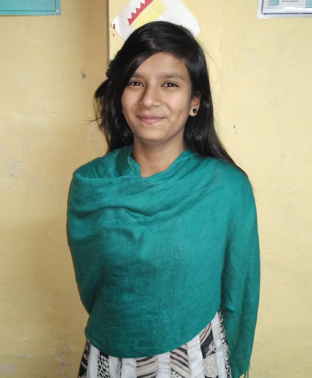 Iqra - Iqra is 14 years old and studies in class 9. She has been with TYPF since 2014. Before becoming a Youth Leader in 2015, Iqra was a participant in our Blending Spectrum programme. Iqra was part of the 'Safe Cities' mapping project where she was involved in mapping safety within and around her community.