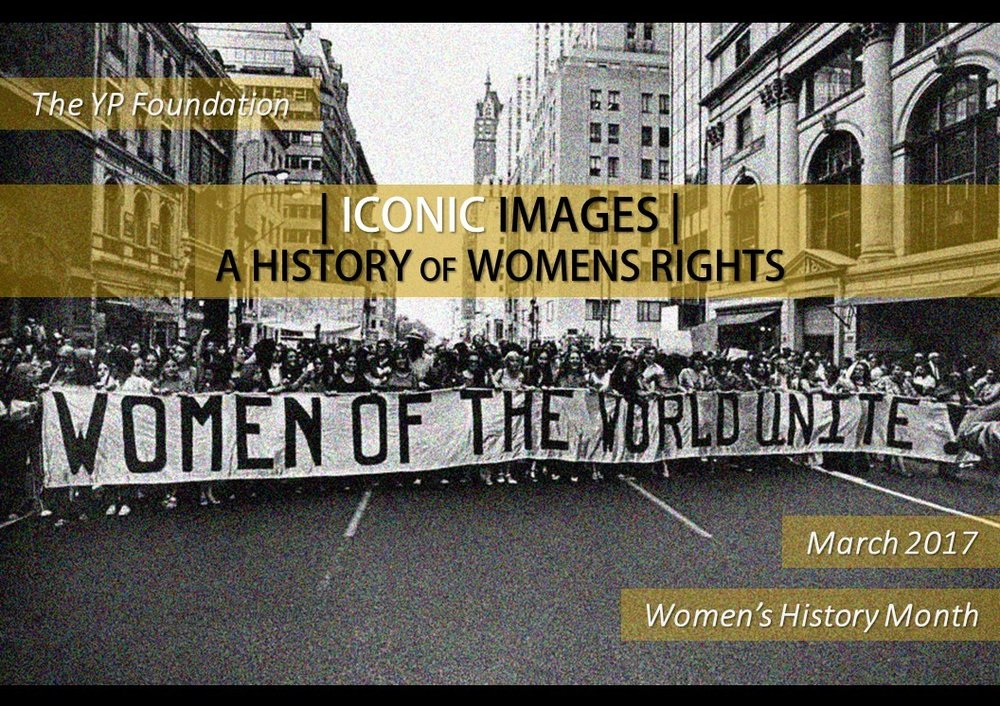 "Iconic Images: A History of Women's Rights""  was a globally sourced online project which visually recognized moments across women's history movements around the globe. Through Iconic images we wanted to re-introduce these moments to the public memory, be it highlighting lesser known aspects of well-known incidents or bringing to the limelight unknown events which are no less significant than their famous counterparts. Contributors were urged to submit images that could offer previously unheard of perspectives, or be the starting point of a discussion that forces the mind to re-evaluate and question the accepted narrative. These images were significant in capturing the essence of a struggle, and they allow us a glimpse into a moment that was either unforgettable or one that faded into the pages of history. But what they remind us is that it is important to recognize that no matter how small or large an event may seem, where we stand now is inextricably linked to each and one of these struggles."