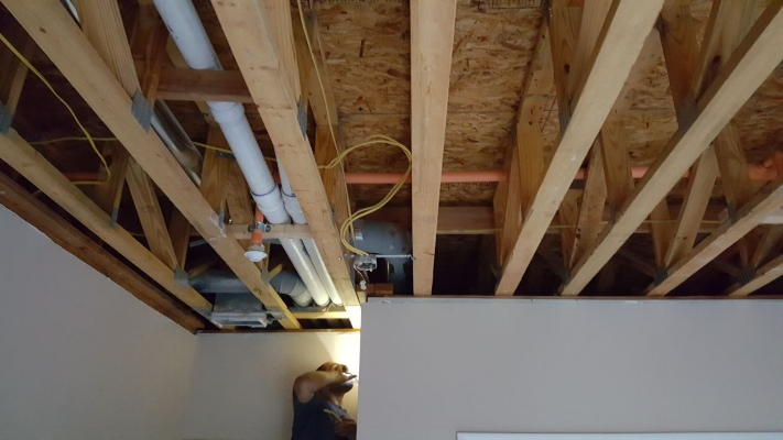 Installation of recessed lighting before soundproofing
