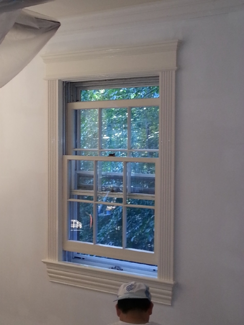Custom window moulding and window installation