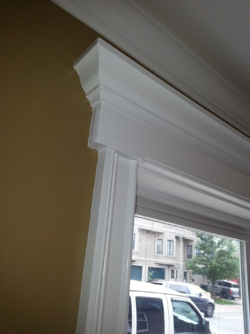 Custom window moulding