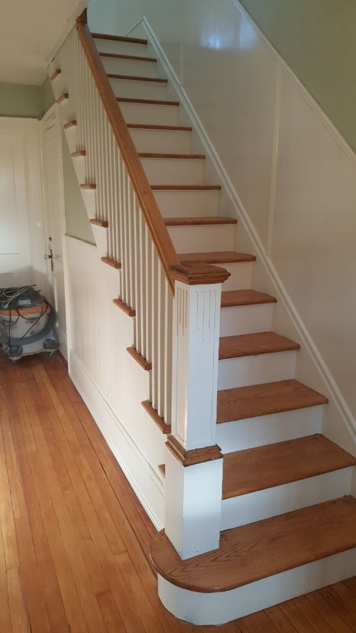 Refinished Stairs Jersey City House