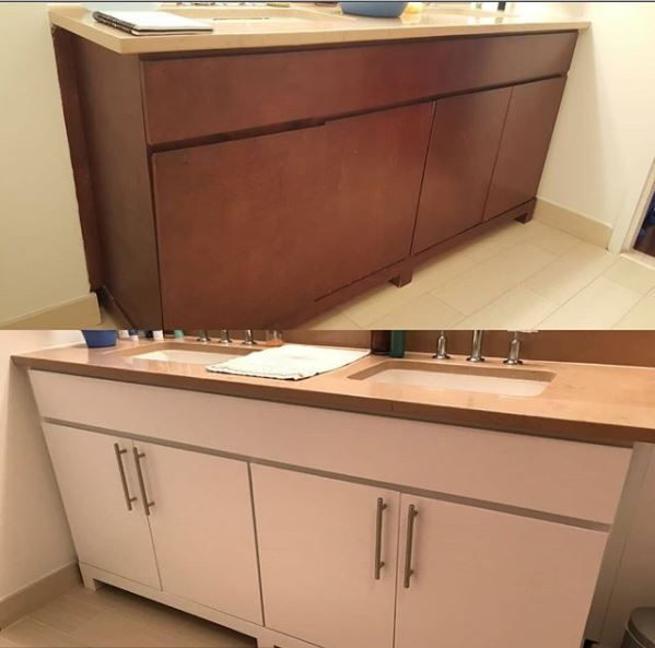 Master Bathroom Vanity Refinishing