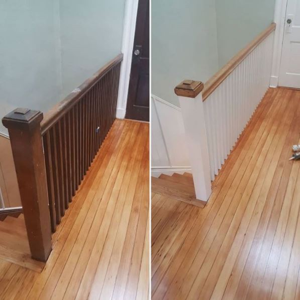 Landing, Banister and Baluster Refinishing