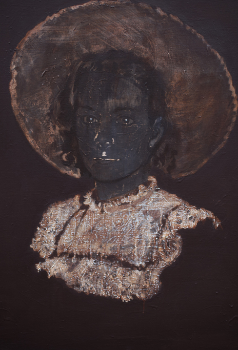 Intensity of need 2010- 2016 tempera op doek  100 x 70 cm