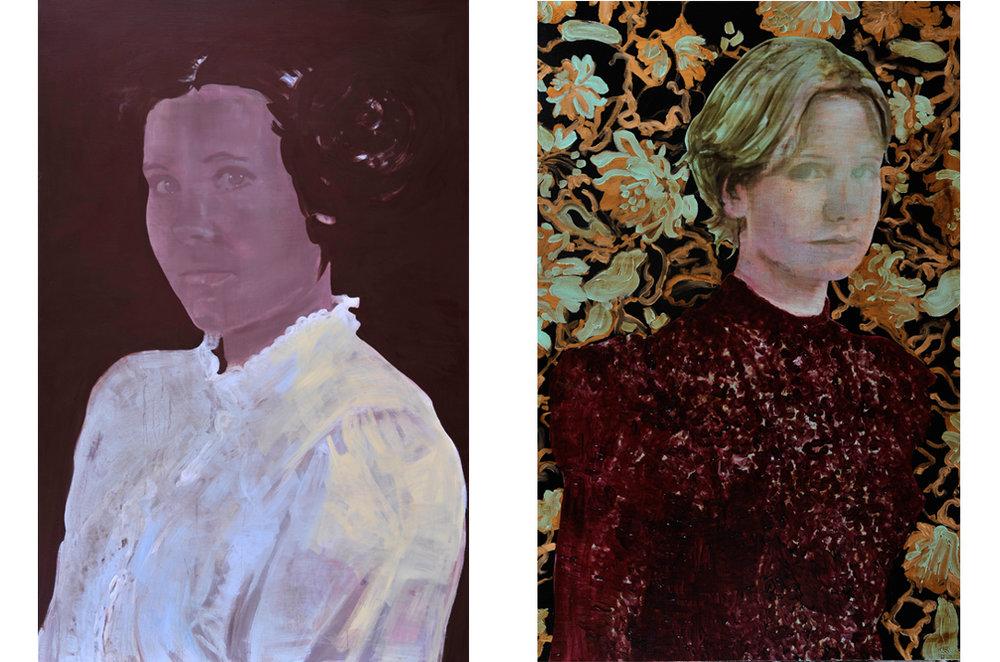 Appearance 2012 tempera en acryl op doek 200 x 130 cm   Distance 2012 tempera, acryl en alkyd op doek 200 x 130 cm
