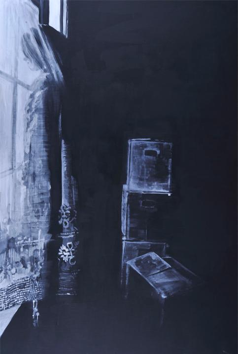 No return 2012 tempera en acryl op doek 220 x 150 cm