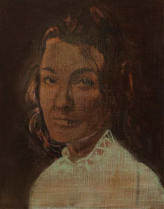 Fragile 2012 tempera, acryl en alkyd op doek 50 x 40 cm
