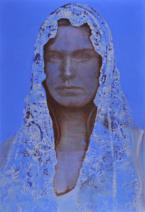 Claiming identity 2011 tempera op doek 20 x 150 cm