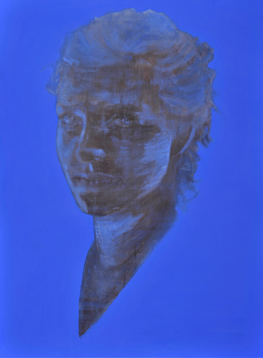 Out of the blue 2011 tempera op doek 120 x 90 cm