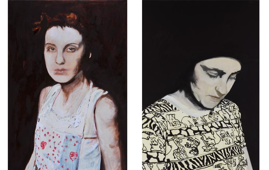 Paeonia 2010 schilderij 100 x 70 cm   Zonder titel 2010 schilderij op doek 100 x 70 cm