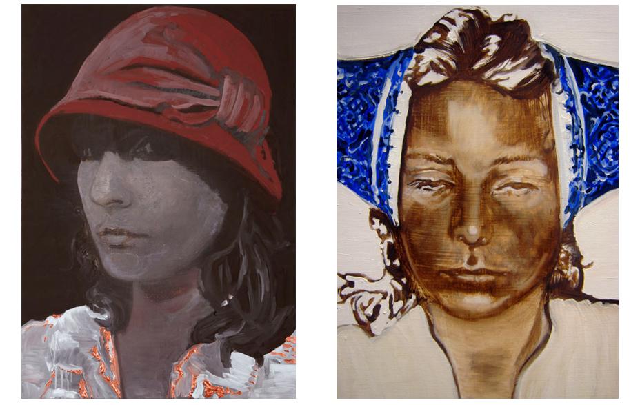 Blindspot schilderij op doek 100 x 70 cm   Deep blue walls schilderij op doek 70 x 50 cm