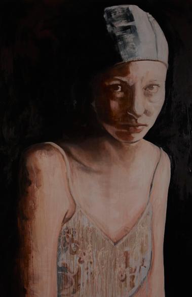 Dressed in exposure 2010 schilderij op doek 200 x 130 cm