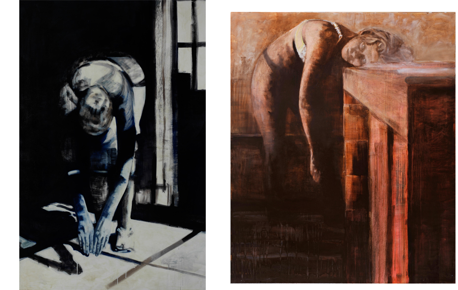 Mirrorpool 2009 schilderij op doek 200 x 130 cm  Lay down my life 2009 tempera, acryl en alkyd op doek 180 x 150 cm