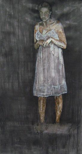 Fragility of goodness tekening op papier 18 x 118 cm