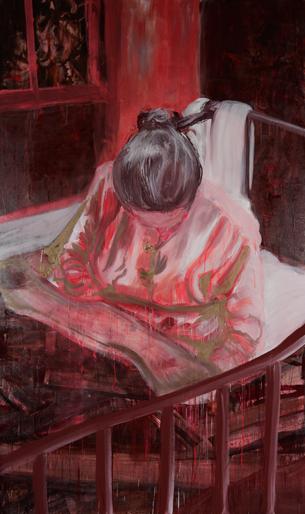 Zonder titel 2007 schilderij op doek 50 x 150 cm