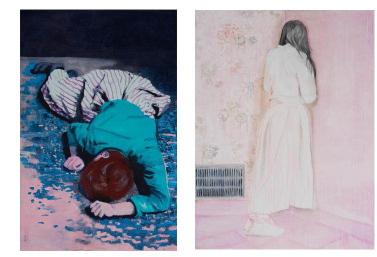 Zonder titel 2007 schilderij op doek 200 x 130 cm   Zonder titel 2007 schilderij op doek 200 x 150 cm
