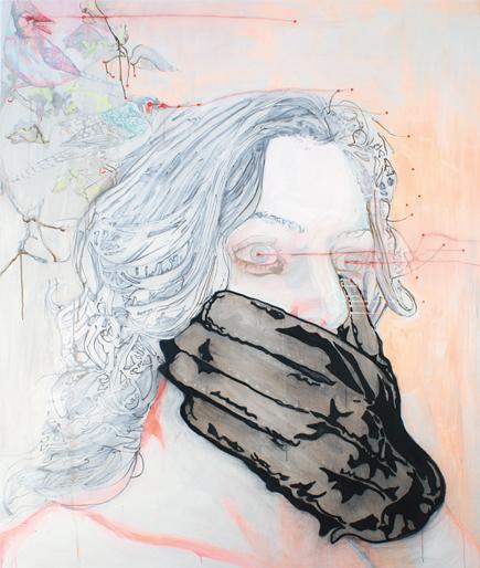Snowwhitesituation (gameover) 2006 schilderij op doek 180 x 150 cm
