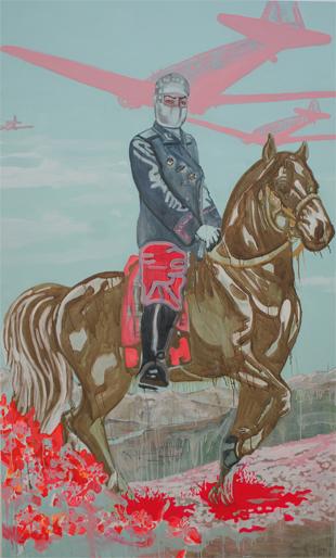 Zonder titel 2006 schilderij op doek 250 x 150 cm