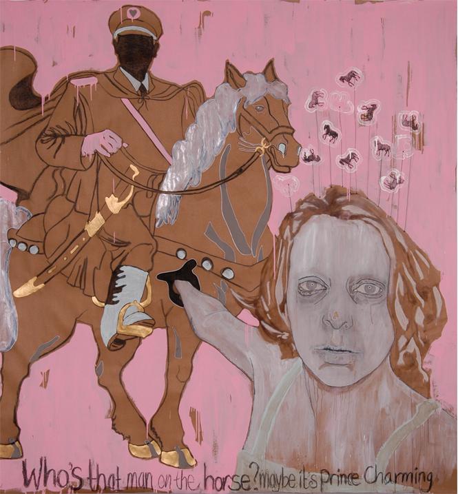 Prince Charming 2006 tekening op papier 236 x 219 cm
