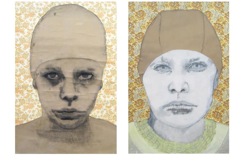 Zonder titel 2003 tekening op papier  190 x 140 cm  Zonder titel 2003 tekening op papier 190 x 140 cm