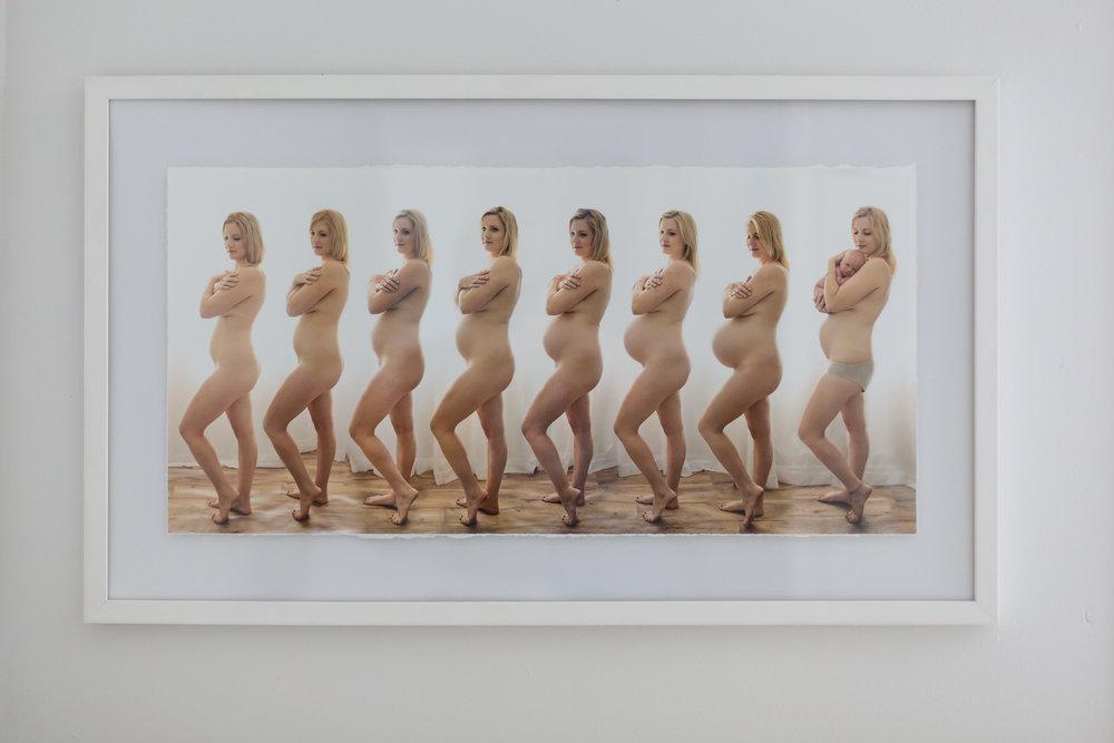 pregnancy timeline series fine art print