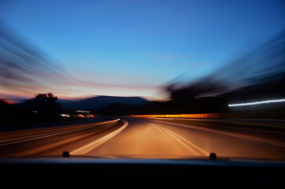 speeding to hospital