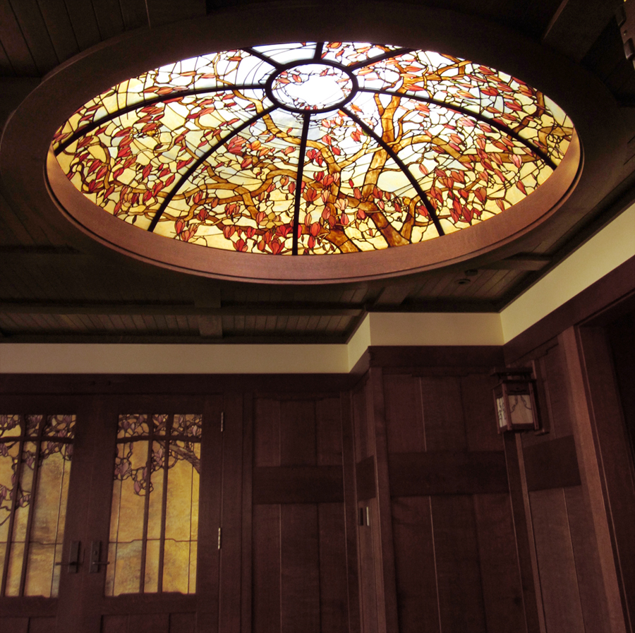 This 8' diameter dome was inspired by a Magnolia Soulangiana tree.