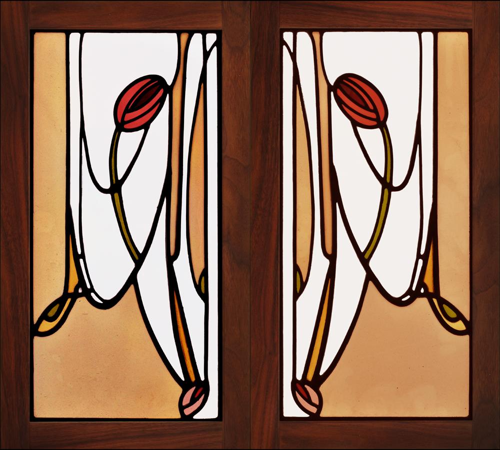 Glasgow Tulip cabinet doors.