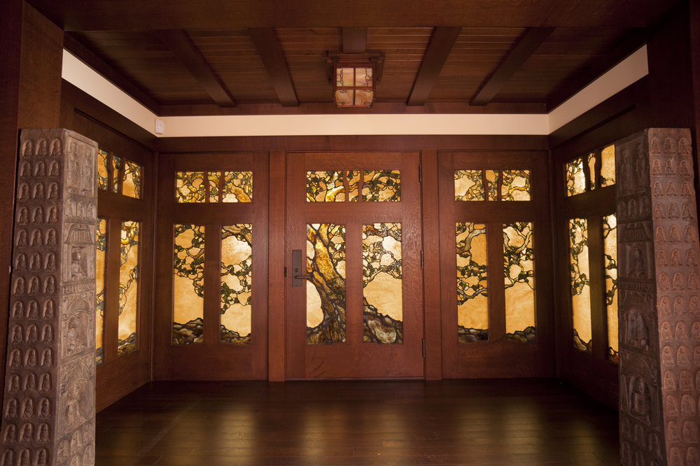 I work to maintain that focus through the glass selection and creating the decorative metal work.