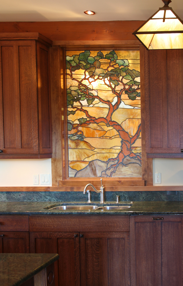 This Sedona Landscape window was inspired by the woodblock prints of   Gustave Bauman  .