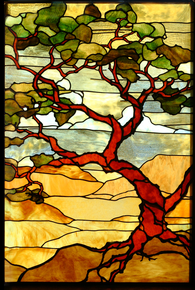 Creating landscape windows justifies my obsessive gathering of rare, unusual and off-production glass.