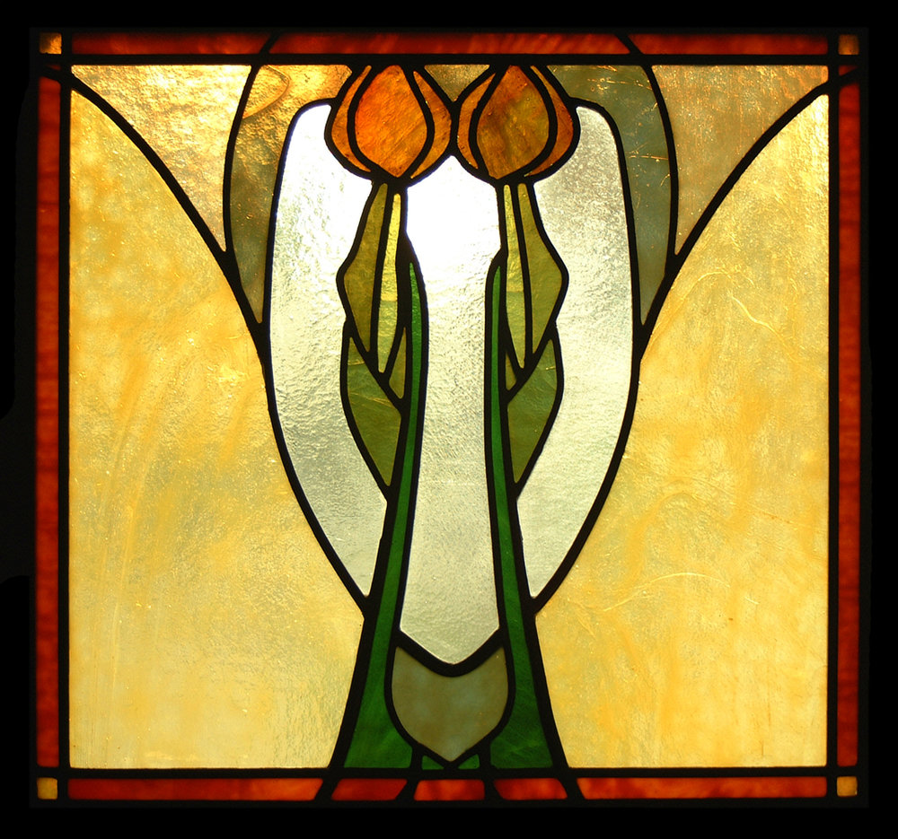 Stylized Tulip window