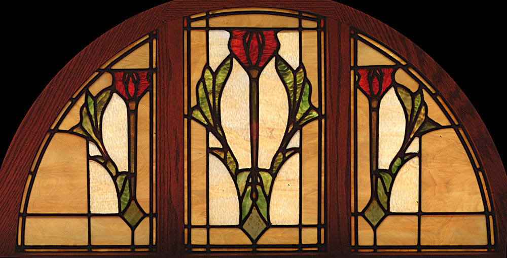 These windows were inspired by decorative design of the carpet in the room these were designed for.